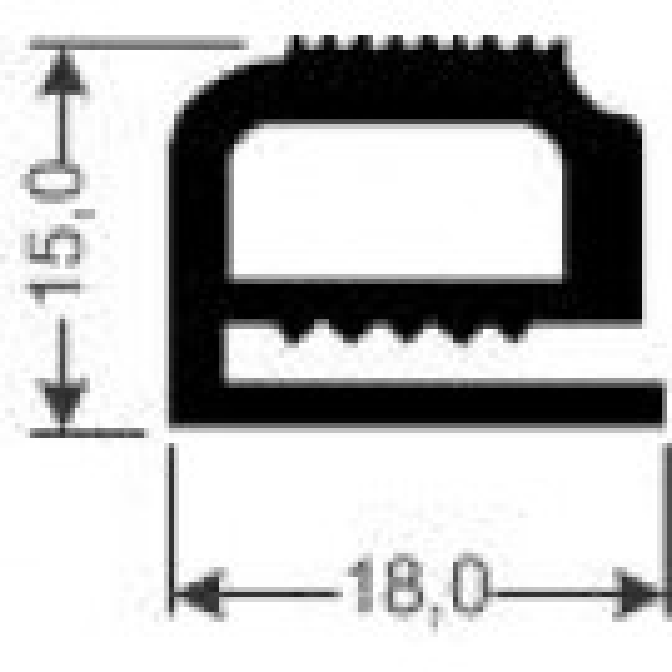 Silikondichtung Meterware schwarz